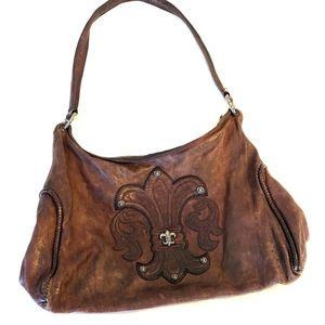 CHROME HEARTS brown leather bag